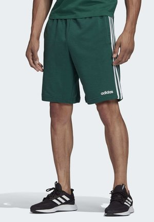ESSENTIALS 3-STRIPES FRENCH TERRY SHORTS - Träningsshorts - green