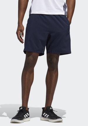AEROREADY 3-STRIPES 8-INCH SHORTS - Sports shorts - blue