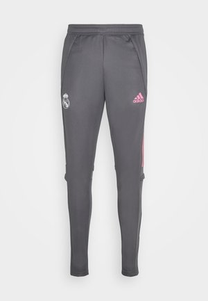 REAL MADRID SPORTS FOOTBALL PANTS - Pantalones deportivos - grey