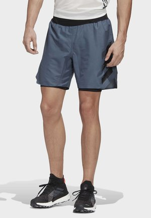 TERREX AGRAVIC TWO-IN-ONE SHORTS - Sports shorts - blue