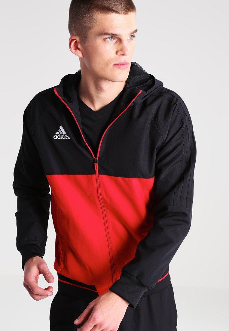 adidas Performance - TIRO17 - Training jacket - black/scarlet/white