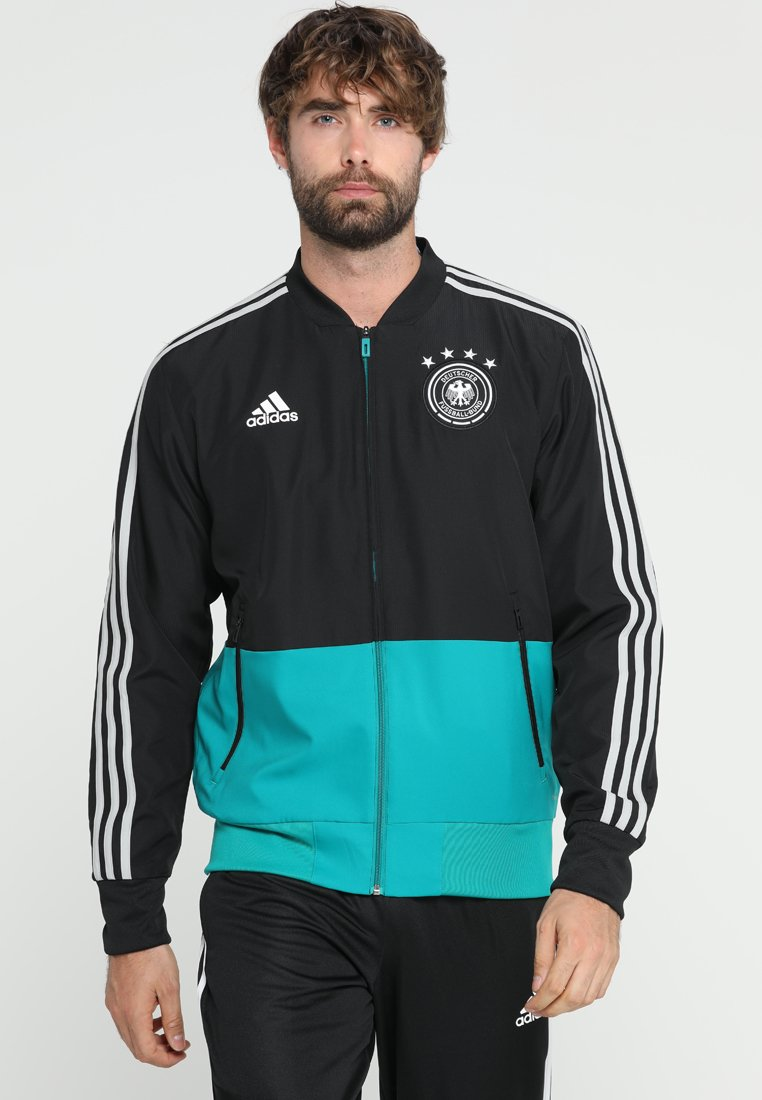adidas Performance - DFB DEUTSCHLAND PRE - Voetbalshirt - Land - black/equipment green/grey two