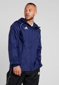 adidas Performance - CORE 18 RAIN JACKET - Hardshelljacka - dark blue/white - 0