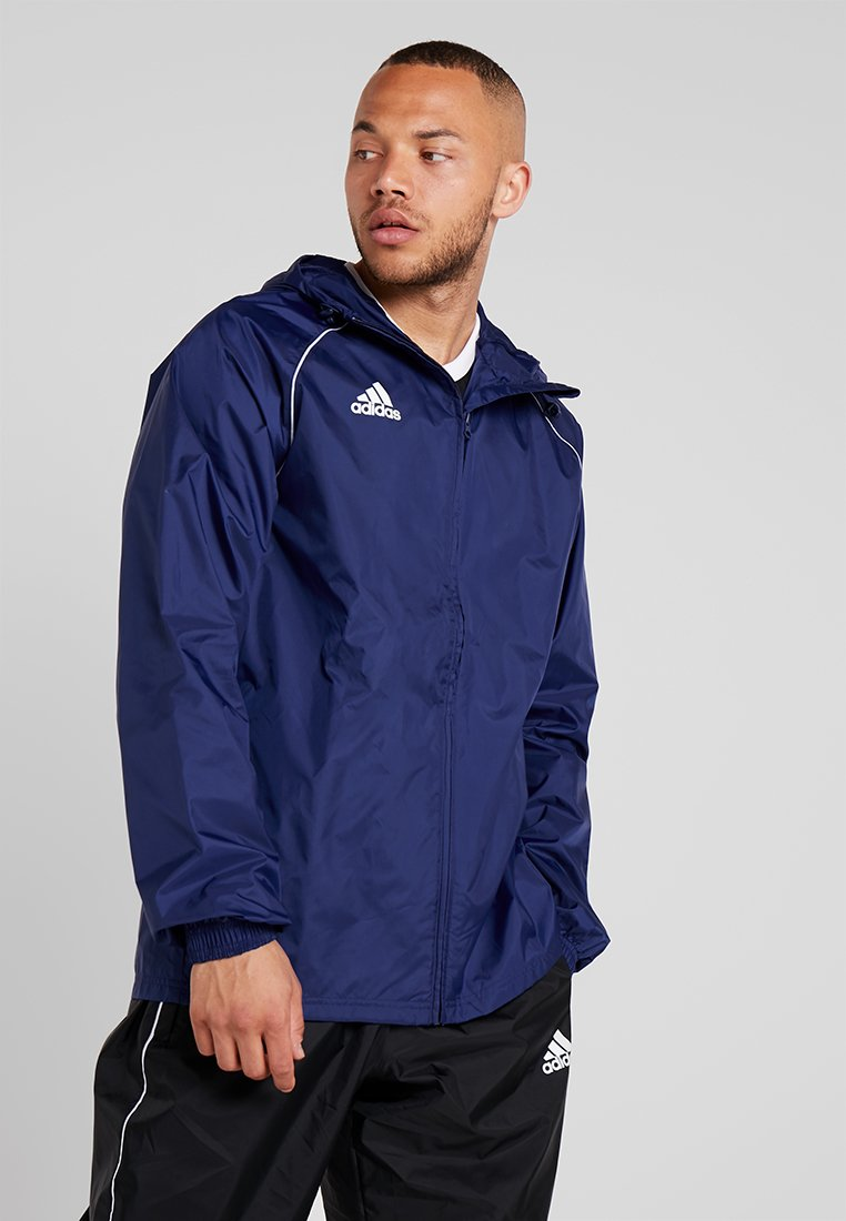 adidas Performance - CORE 18 RAIN JACKET - Hardshell jacket - dark blue/white