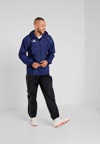 adidas Performance - CORE 18 RAIN JACKET - Hardshelljacka - dark blue/white - 1