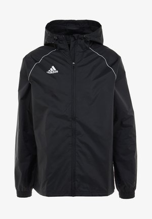 CORE 18 RAIN JACKET - Giacca hard shell - black/white