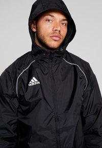 adidas Performance - CORE ELEVEN FOOTBALL JACKET - Kurtka hardshell - black/white - 3