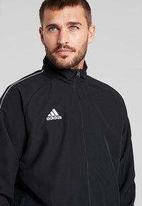 adidas Performance - CORE 18 - Sportovní bunda - black/white - 4