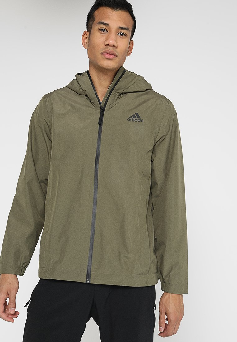 adidas Performance - BSC CLIMAPROOF RAIN - Waterproof jacket - raw khaki