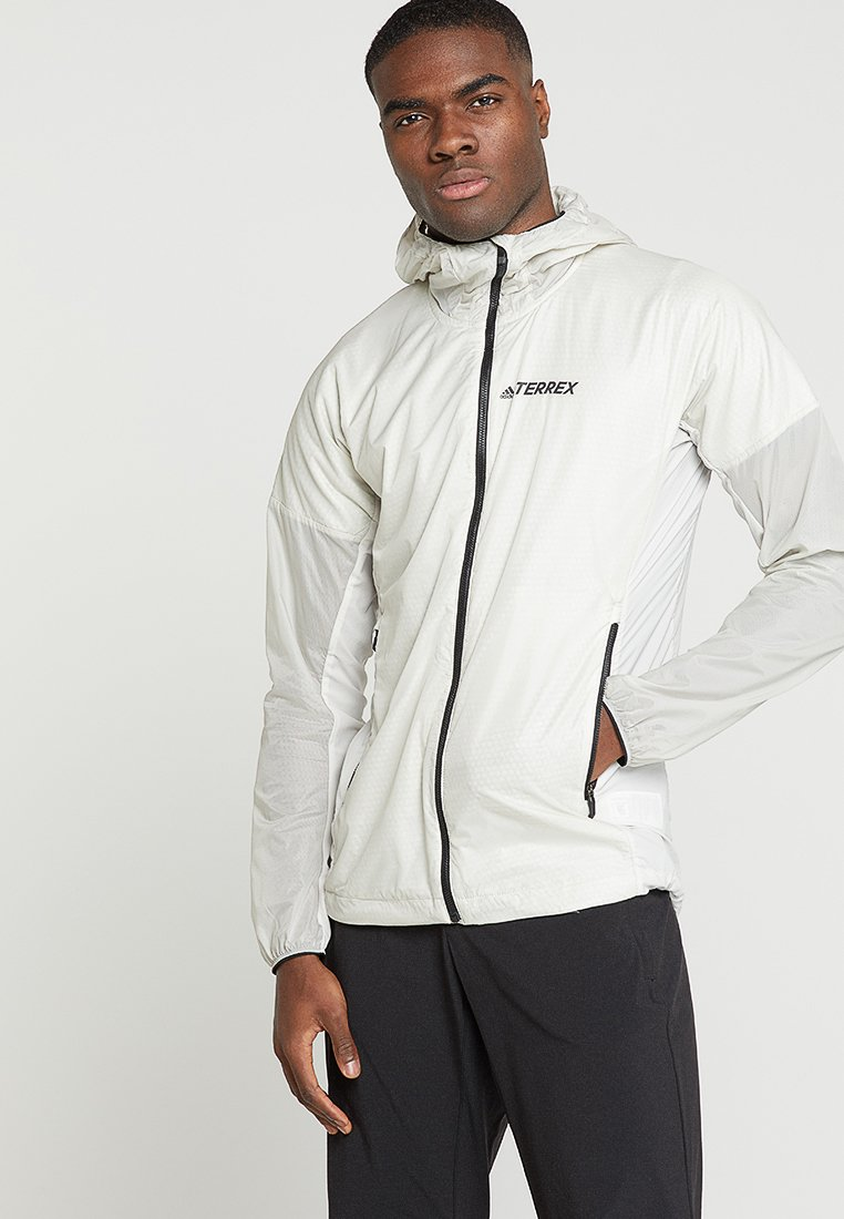 adidas Performance - TERREX AGRAVIC ALPHA HOODED SHIELD - Windbreakers - raw white