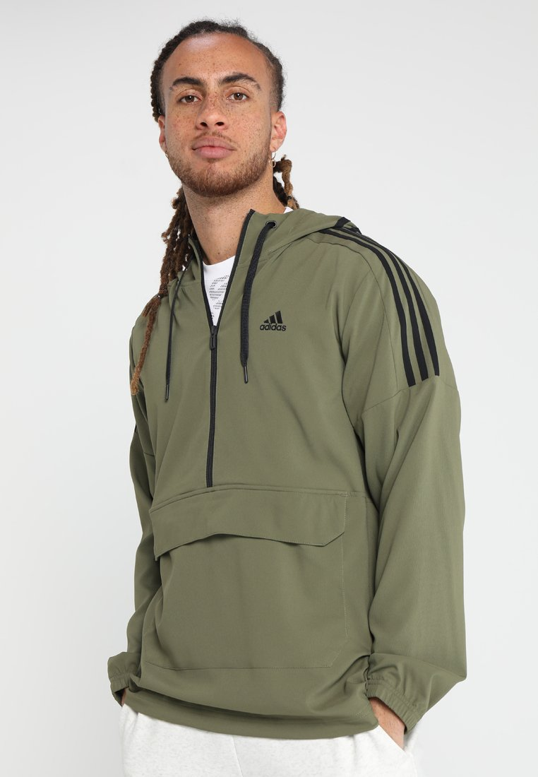 adidas Performance - SID ANORAK  - Trainingsjacke - raw khaki/black