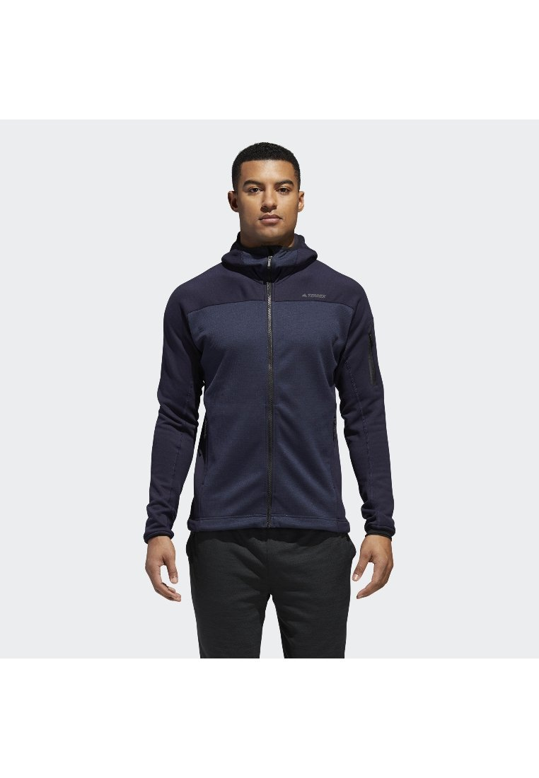 adidas Performance - TERREX STOCKHORN HOODED FLEECE - Fleece jacket - blue