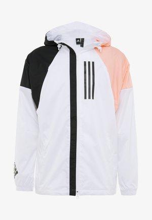 Vindjakke - white/black/glow pink