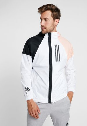Windbreaker - white/black/glow pink
