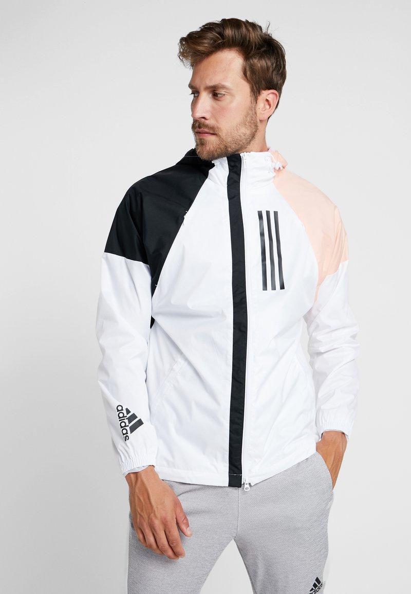 adidas Performance - Windbreaker - white/black/glow pink