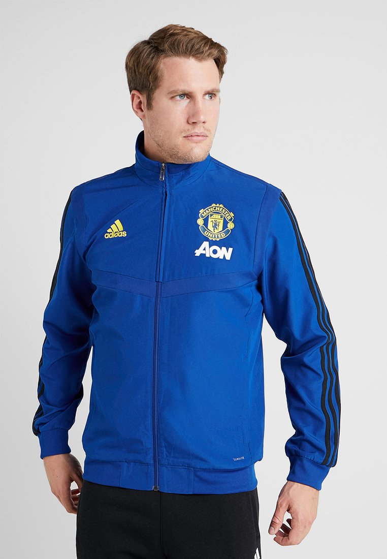 adidas Performance - MUFC PRE - Training jacket - croyal/black