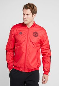 adidas Performance - MANCHESTER UNITED ANTHEM JKT - Club wear - real red/black - 0