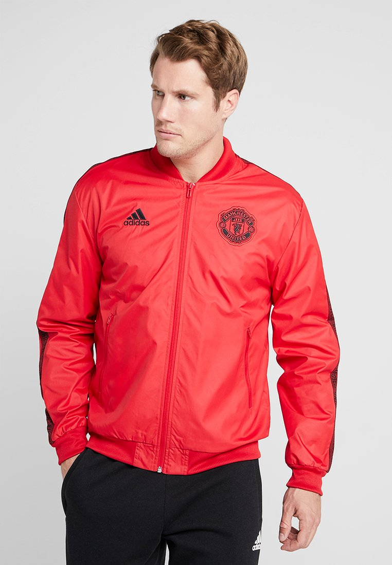 adidas Performance - MANCHESTER UNITED ANTHEM JKT - Club wear - real red/black
