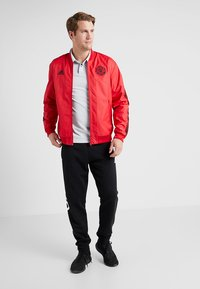 adidas Performance - MANCHESTER UNITED ANTHEM JKT - Club wear - real red/black - 1