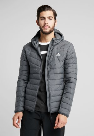 VARILITE SOFT 3-STRIPES HOODED DOWN JACKET - Kurtka zimowa - carbon