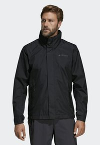 adidas Performance - AX JACKET - Regenjas - black - 0