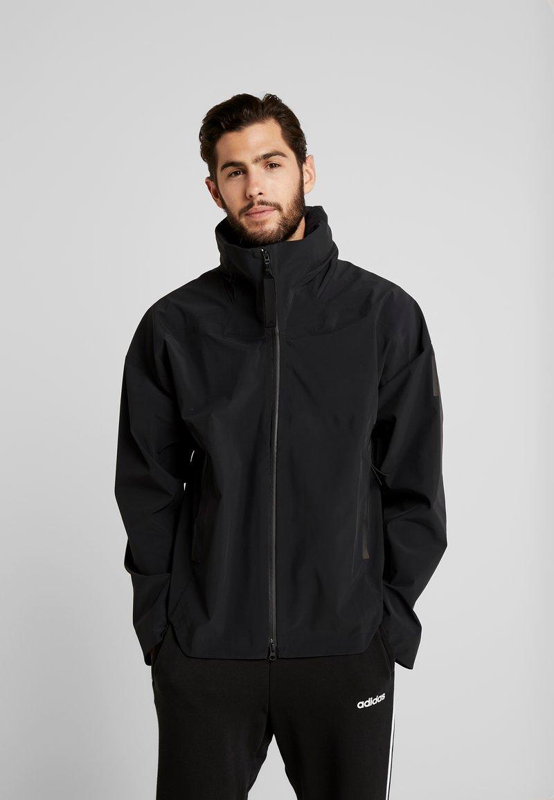 adidas Performance - MYSHELTER RAIN JACKET - Regnjacka - black