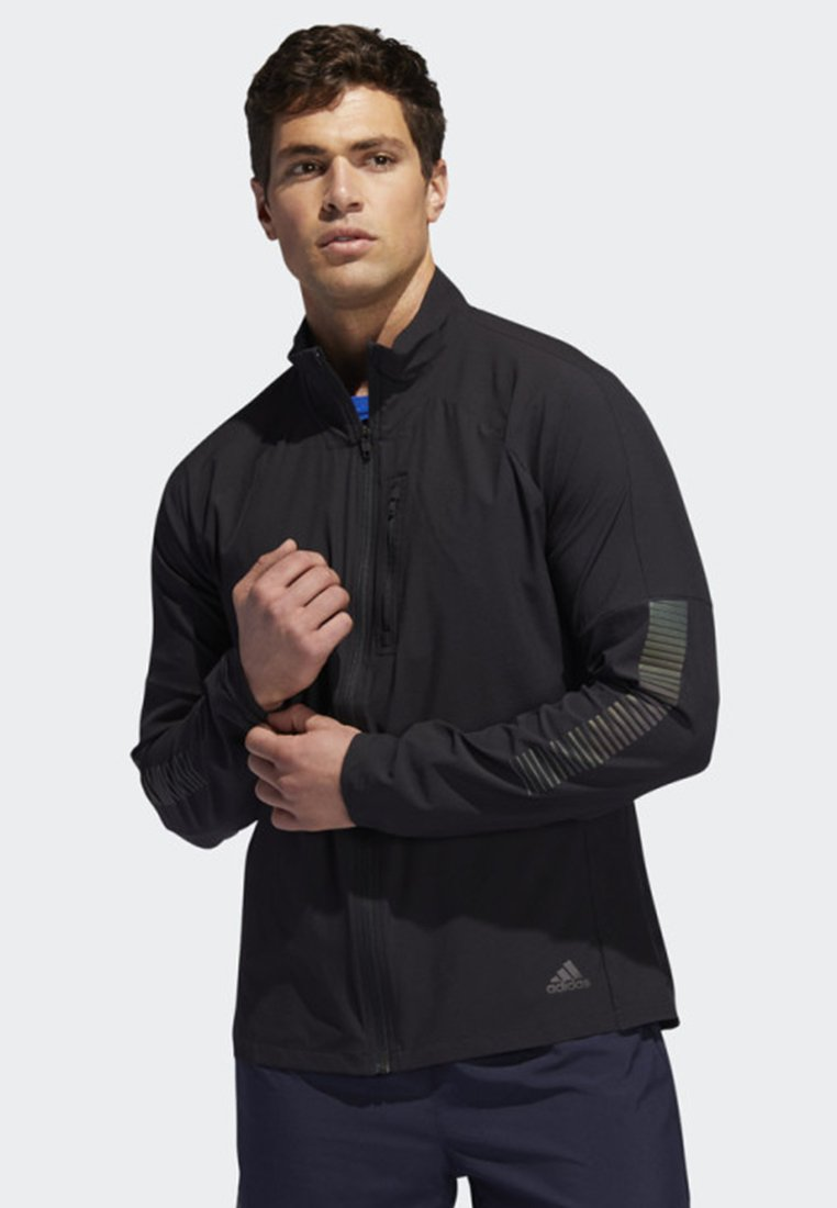 adidas Performance - RISE UP N RUN JACKET - Sportovní bunda - black