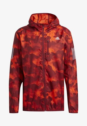 OWN THE RUN CAMOUFLAGE JACKET - Softshell jakker - orange