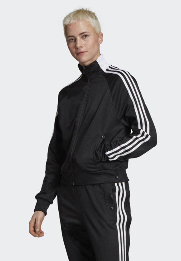 adidas Performance - ID 3-STRIPES SNAP TRACK TOP - Träningsjacka - black