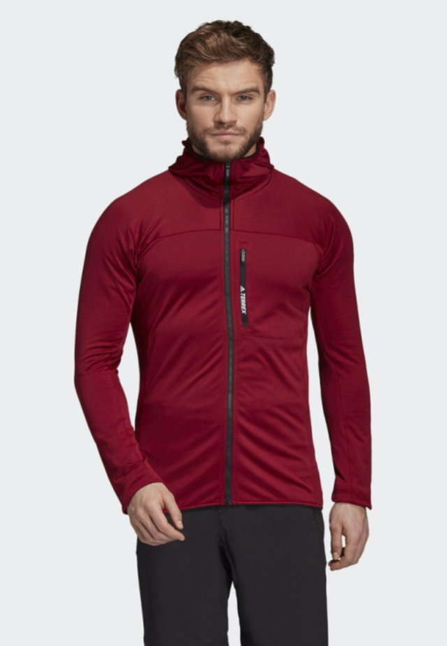 TRACEROCKER HOODED FLEECE JACKET - Fleece jacket - red