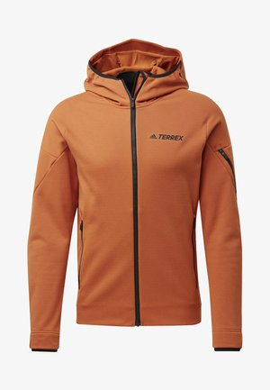 CLIMAHEAT HOODED FLEECE JACKET - Fleecejas - brown