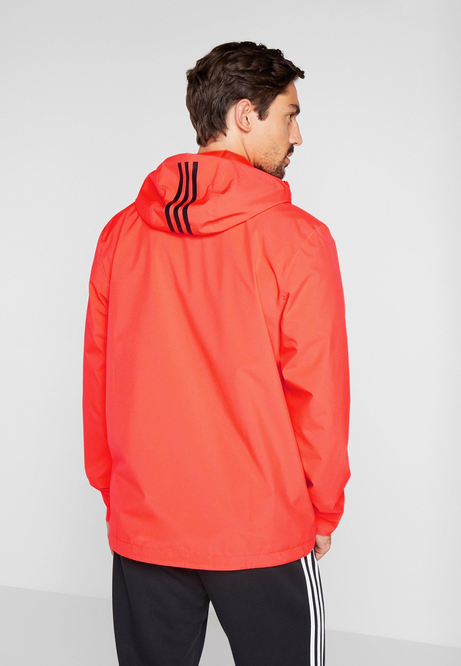 adidas Performance BSC 3-STRIPES RAIN.RDY - Regnjacka - red