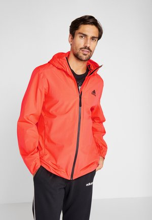 3-STRIPES RAIN.RDY - Waterproof jacket - red