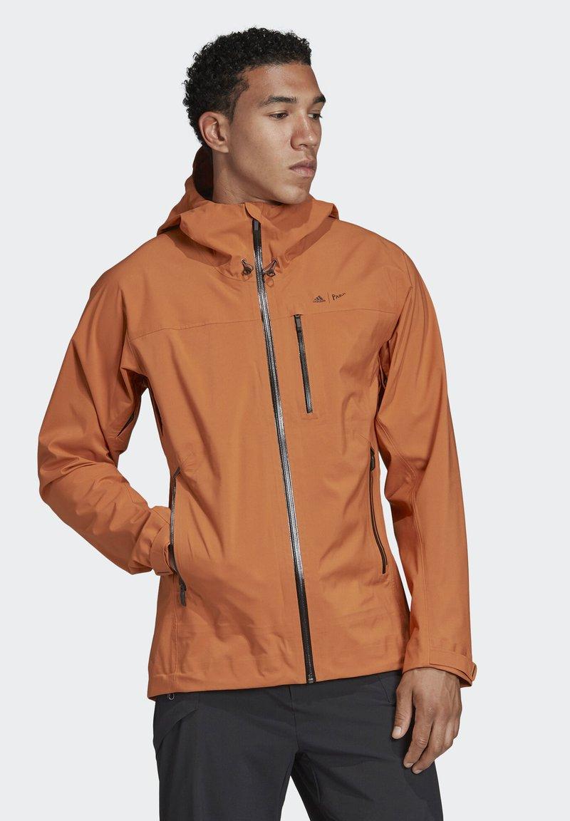 adidas Performance - PARLEY THREE-LAYER 2.0 JACKET - Waterproof jacket - brown