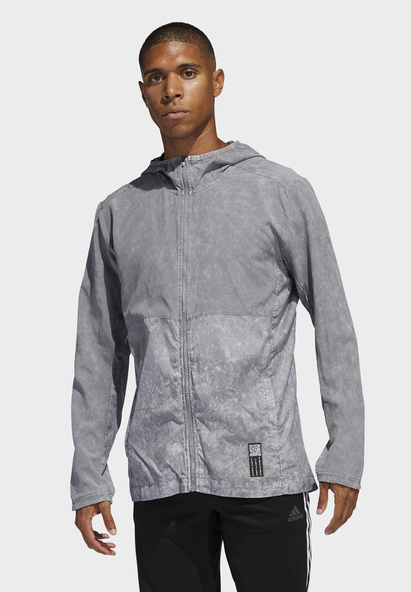 adidas Performance - OWN THE RUN HD WINDBREAKER - Veste coupe-vent - gray