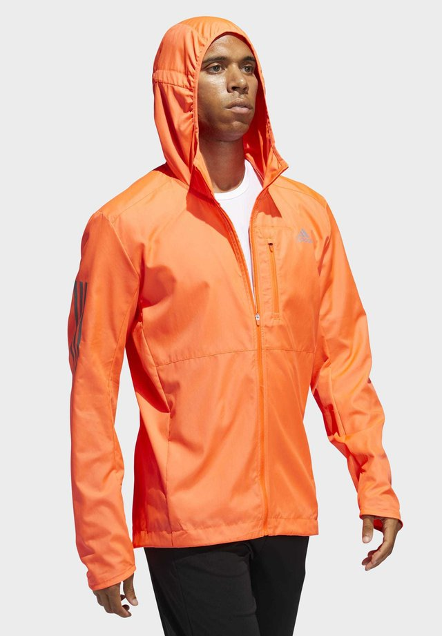 OWN THE RUN HOODED WINDBREAKER - Giacca sportiva - orange