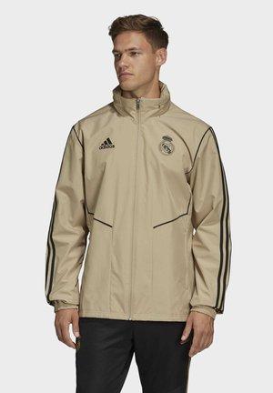 REAL MADRID ALL-WEATHER JACKET - Klubbkläder - gold