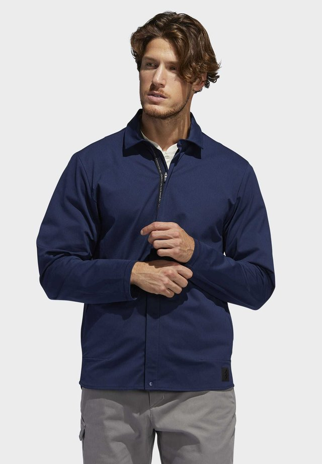 ADICROSS WARP KNIT JACKET - Softshell jakker - blue