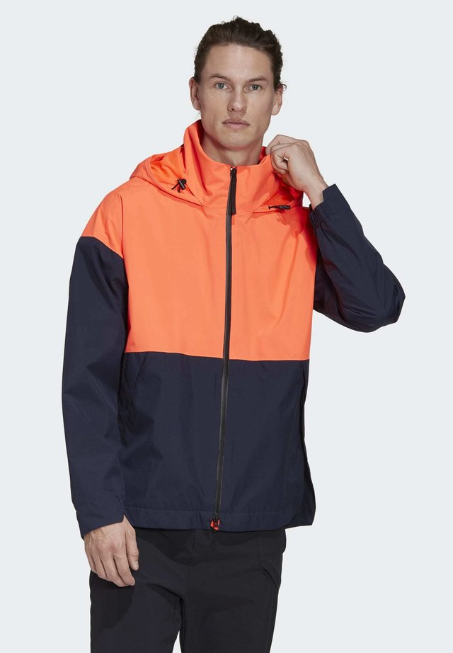 URBAN RAIN.RDY RAIN JACKET - Giacca sportiva - orange/blue