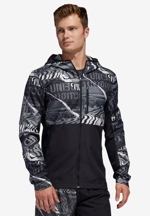 "ADIDAS PERFORMANCE HERREN LAUFJACKE ""OWN THE RUN JACKET"" - Veste de survêtement - black/grey"