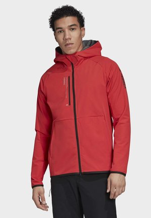 TERREX FELSBLOCK HOODED FLEECE JACKET - Blouson - red
