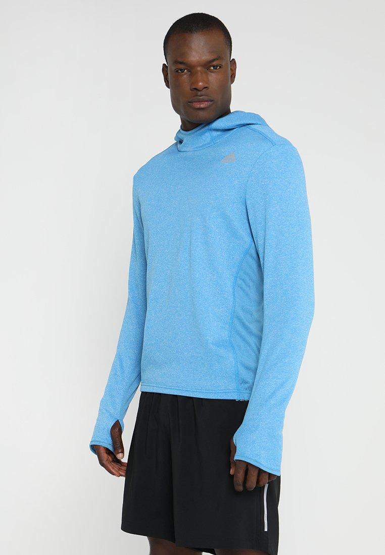 adidas Performance - RESPONSE ASTRO HOODIE - Kapuzenpullover - bright blue