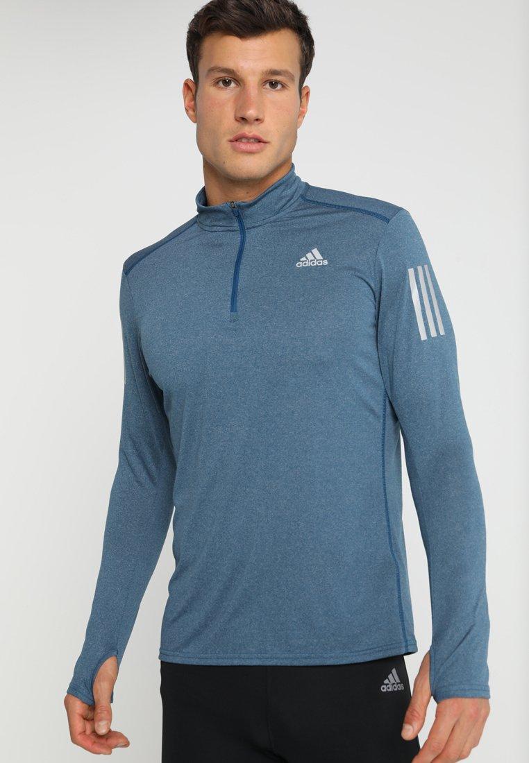 adidas Performance - ZIP TEE - Sportshirt - legend marine