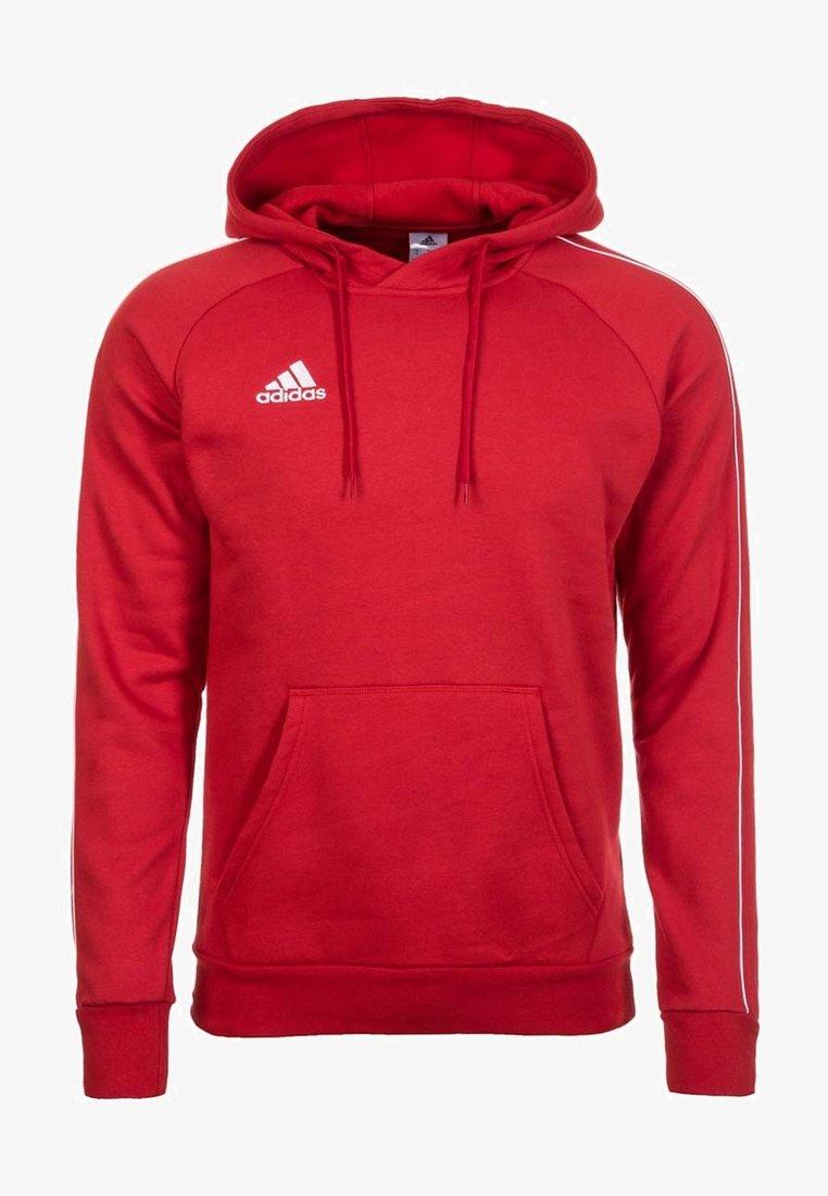 adidas Performance - CORE 18 HOODIE - Hoodie - red/white