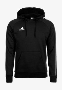 adidas Performance - CORE ELEVEN FOOTBALL HODDIE SWEAT - Bluza z kapturem - black/white - 0