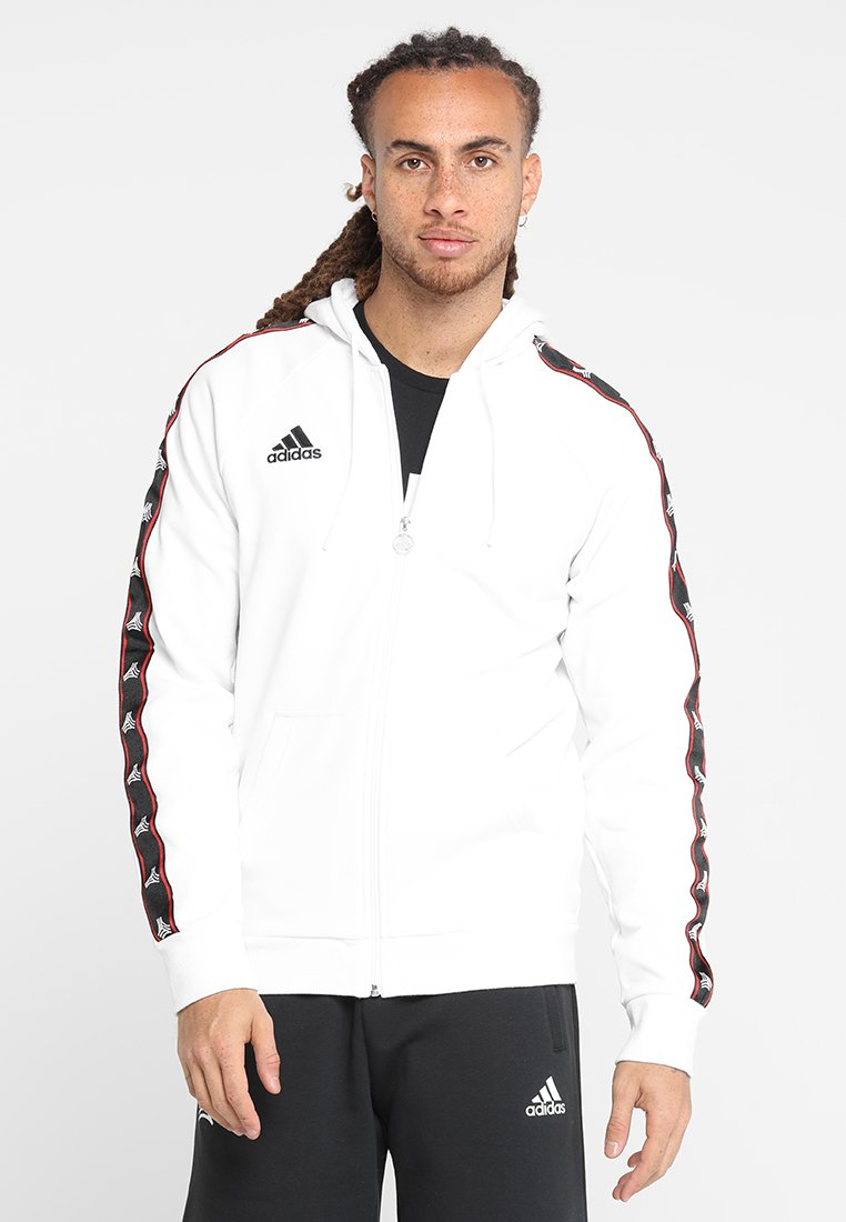 adidas Performance - TAN HOODY - Felpa aperta - white