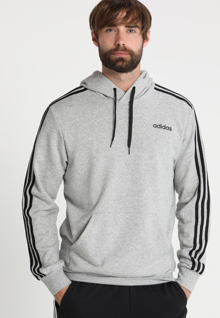 adidas Performance - Jersey con capucha - medium grey heather/black