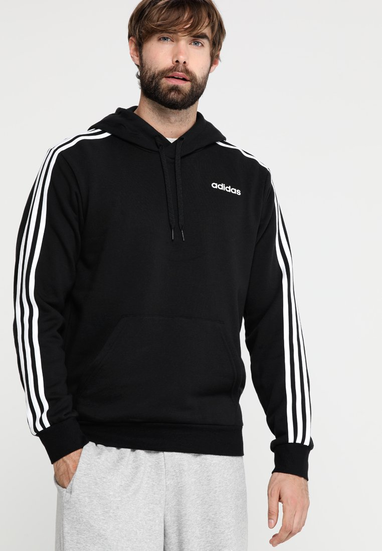 adidas Performance - Jersey con capucha - black/white