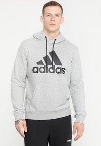 adidas Performance - MUST HAVES SPORT REGULAR FIT HOODIE - Hoodie - medium grey heather/black - 0