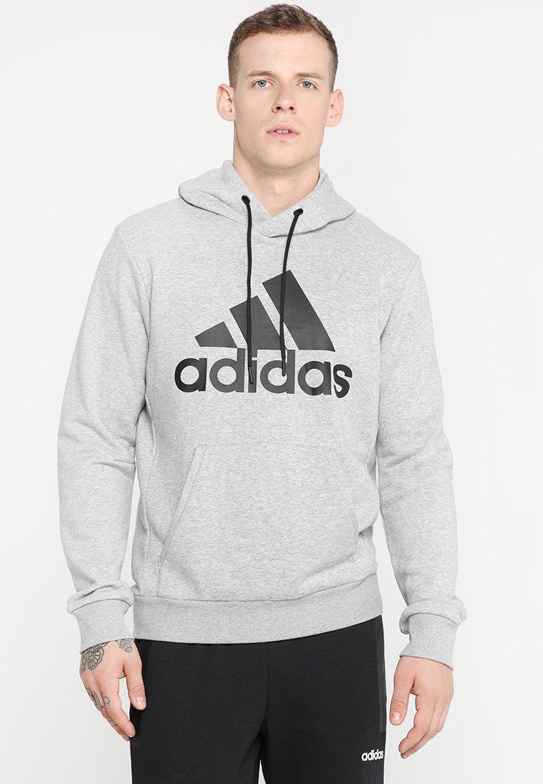 adidas Performance - MUST HAVES SPORT REGULAR FIT HOODIE - Hoodie - medium grey heather/black